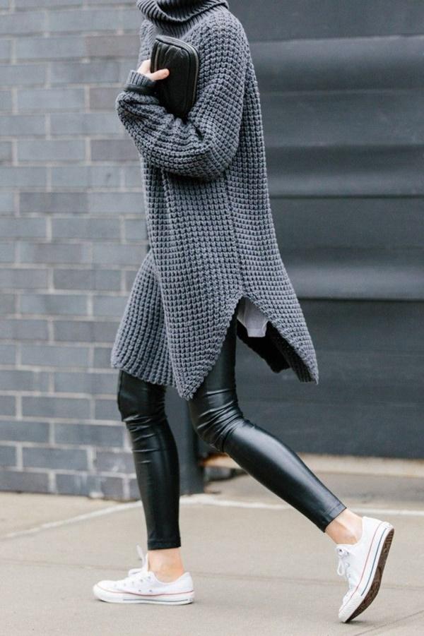Stylish Ways to Wear Leggings in winter44