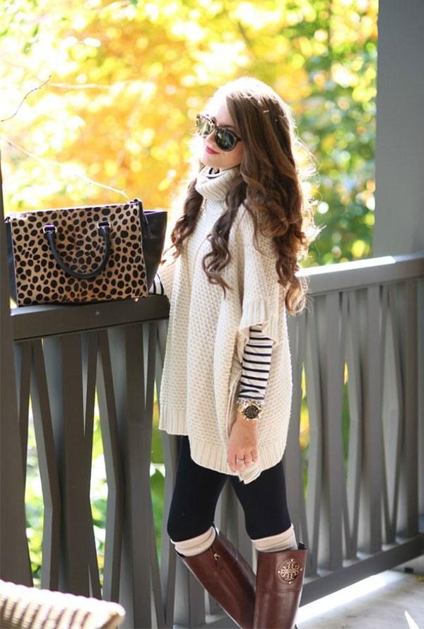 Stylish Ways to Wear Leggings in winter8