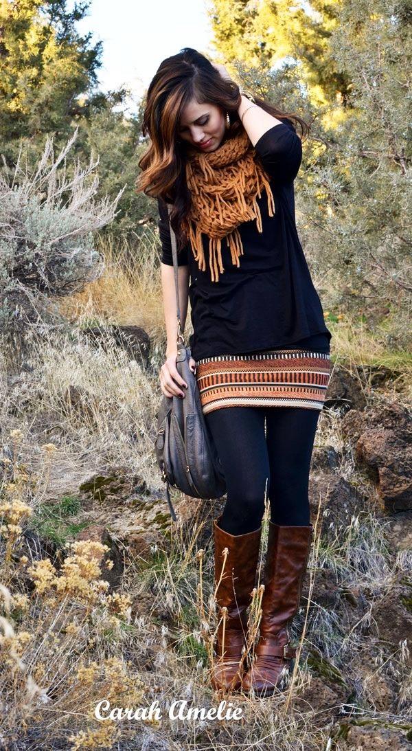 Stylish Ways to Wear Leggings in winter9