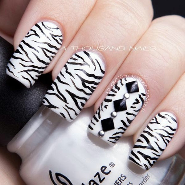 Black and White Nails Designs (1)