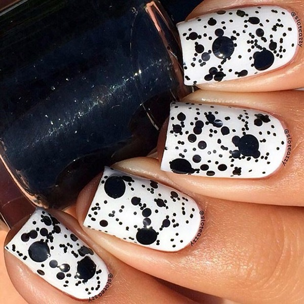 Black and White Nails Designs (12)