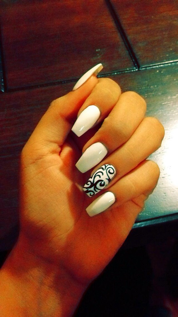 Black and White Nails Designs (18)