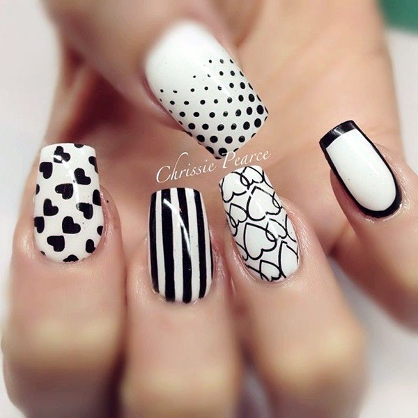 Black and White Nails Designs (28)