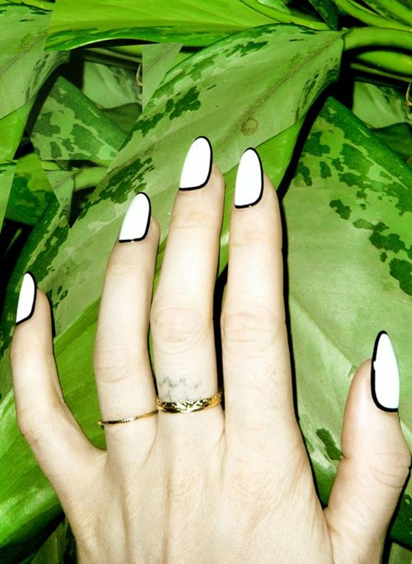 Black and White Nails Designs (29)