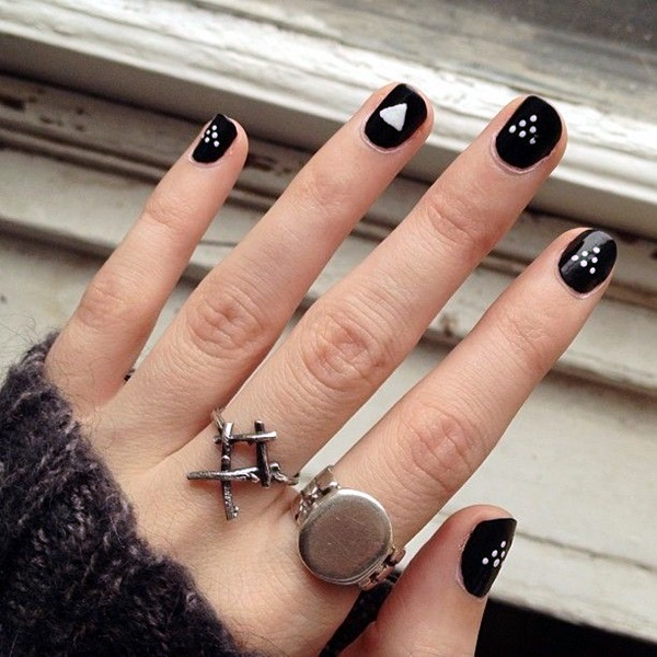 Black and White Nails Designs (31)