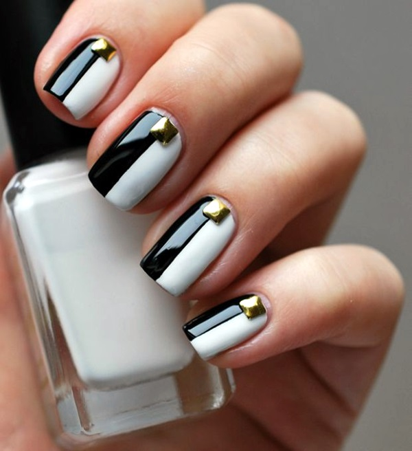 Black and White Nails Designs (33)