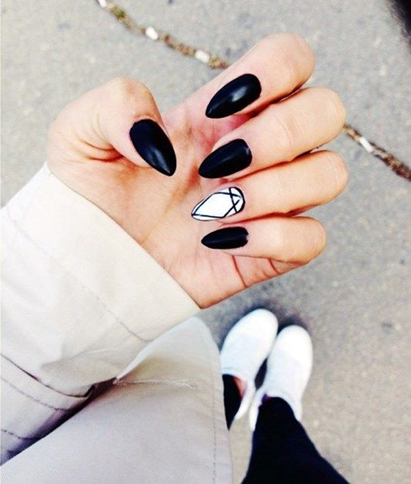 Black and White Nails Designs (35)