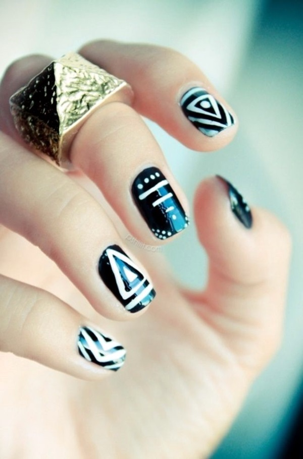 Black and White Nails Designs (36)