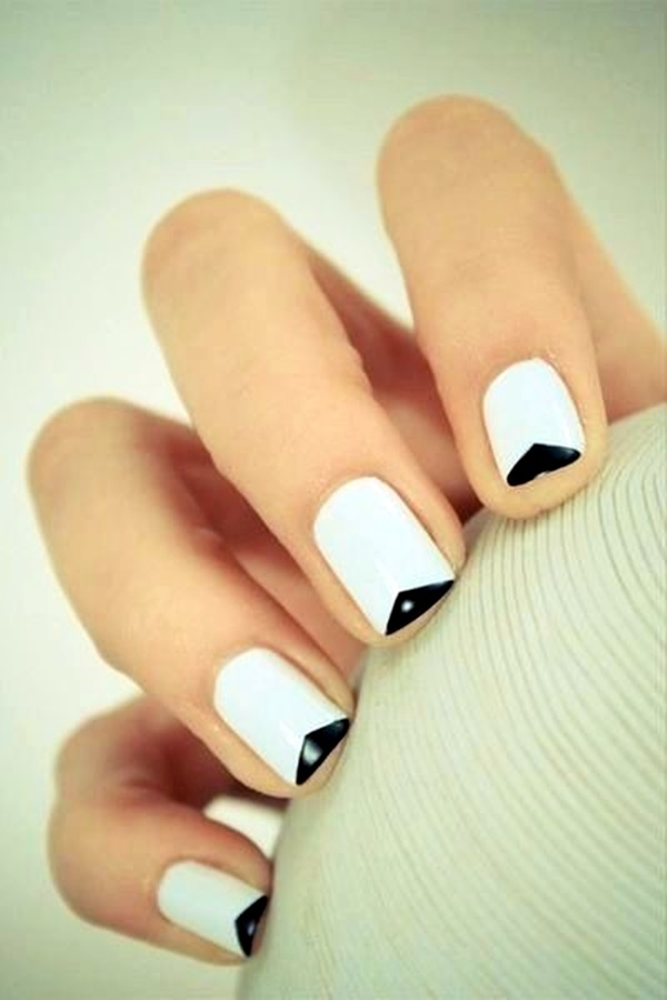 Black and White Nails Designs (38)