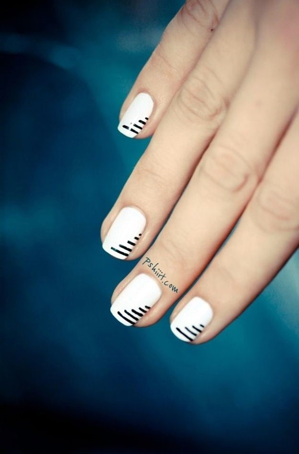 Black and White Nails Designs (41)
