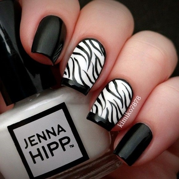Black and White Nails Designs (43)