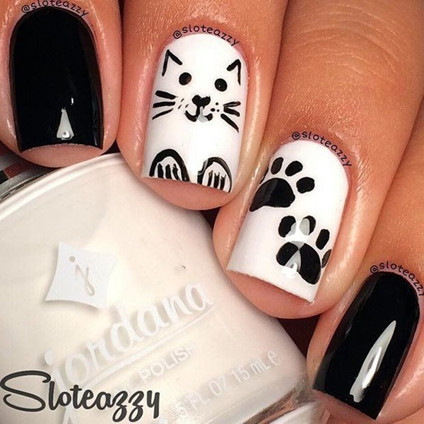 Black and White Nails Designs (45)