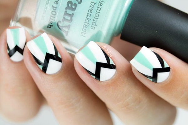 Black and White Nails Designs (48)