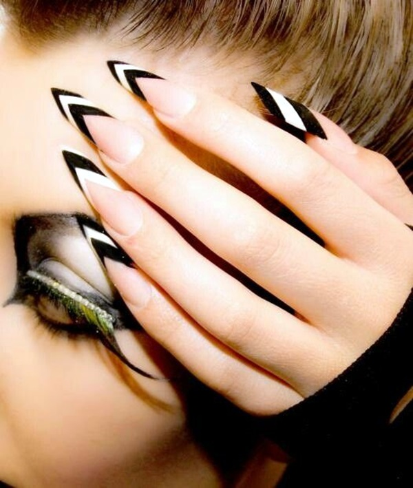 Black and White Nails Designs (49)