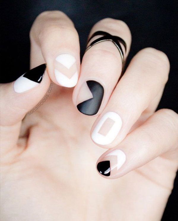 Black and White Nails Designs (5)