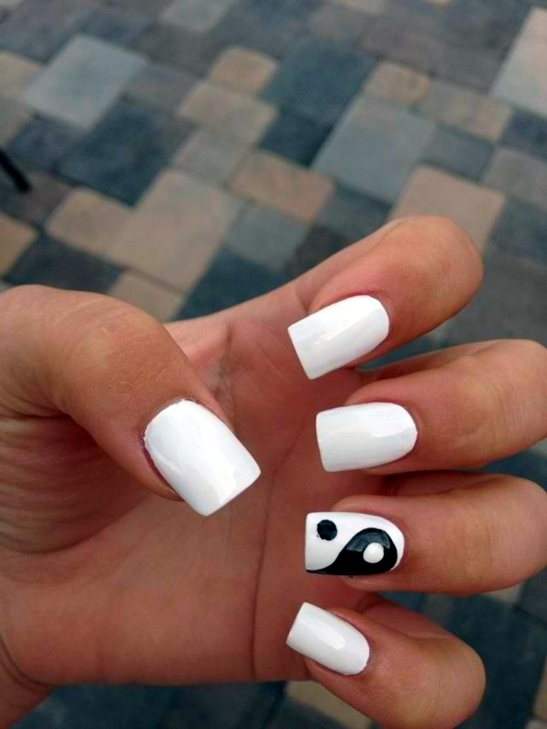 Black and White Nails Designs (52)