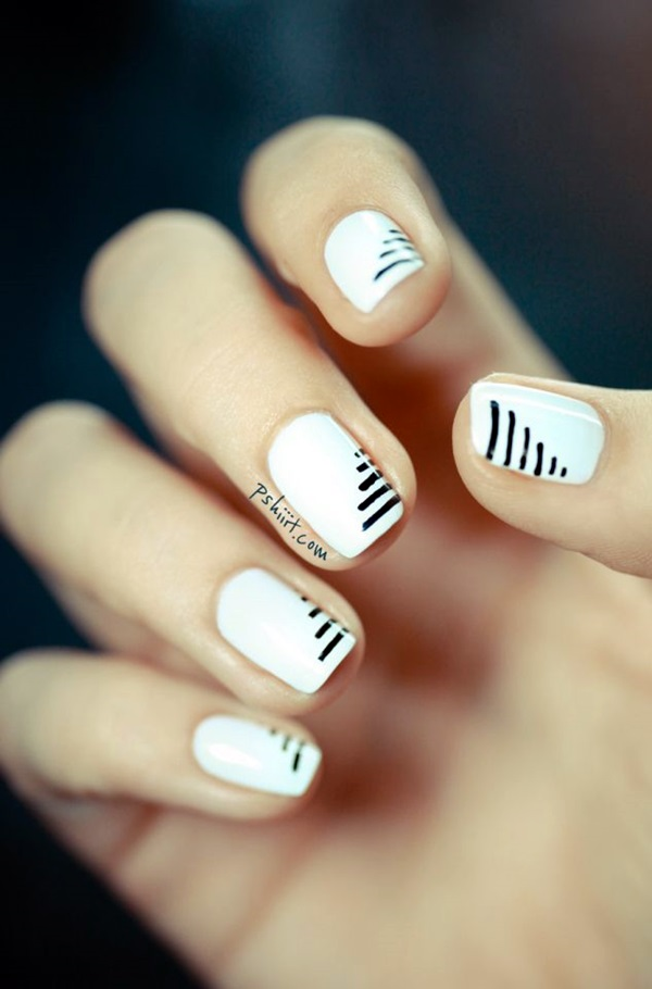 Black and White Nails Designs (53)