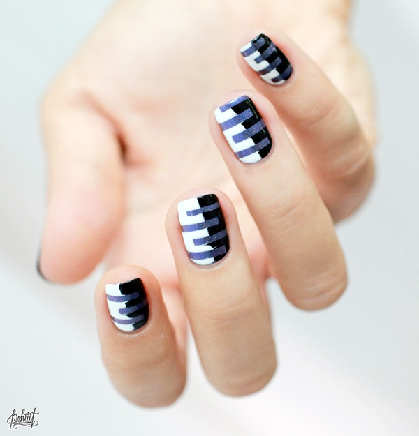 Black and White Nails Designs (6)