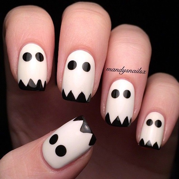 Black and White Nails Designs (7)