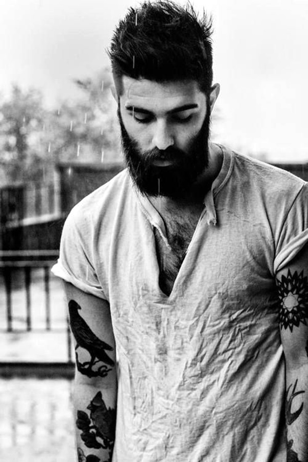 Cute Short and Full Beard Styles for Men (13)