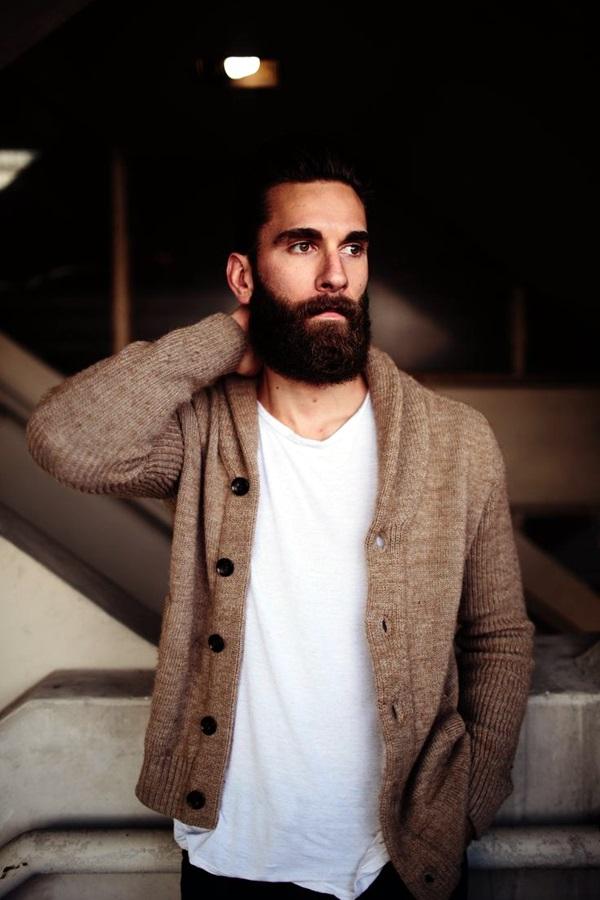 Cute Short and Full Beard Styles for Men (19)