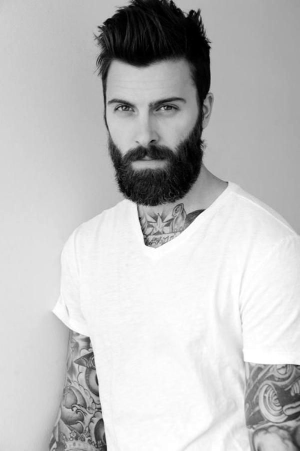 Cute Short and Full Beard Styles for Men (21)