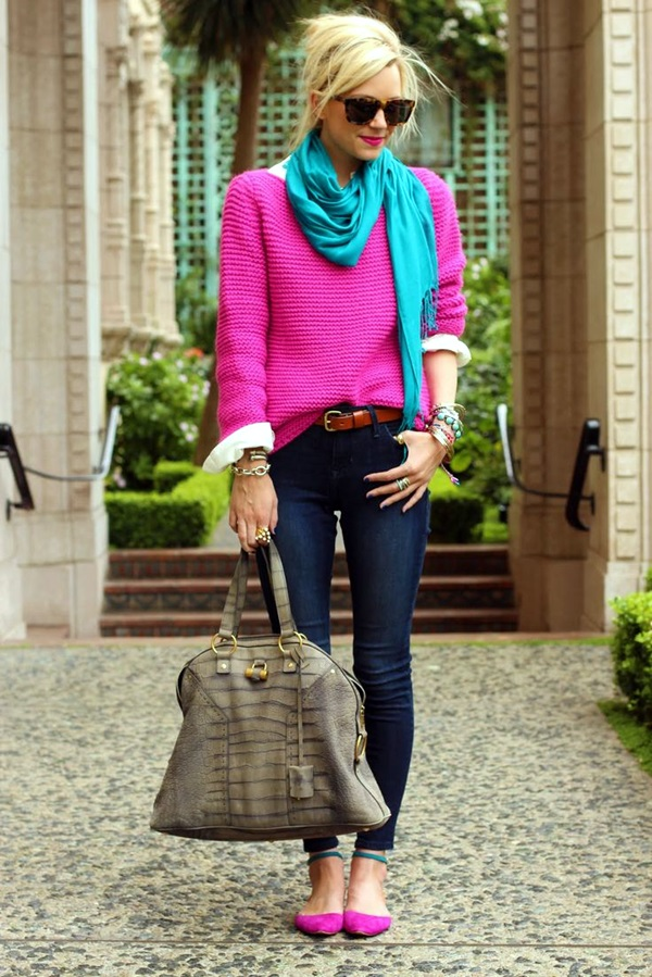 Scarf Outfit Ideas to try this Winter (15)