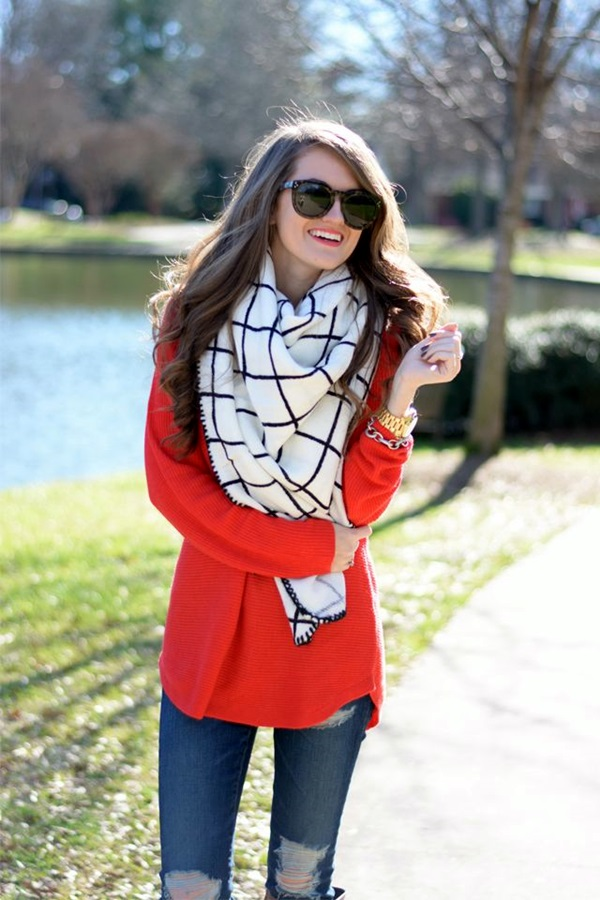 Scarf Outfit Ideas to try this Winter (22)