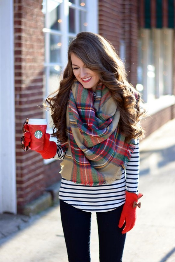 Scarf Outfit Ideas to try this Winter (28)