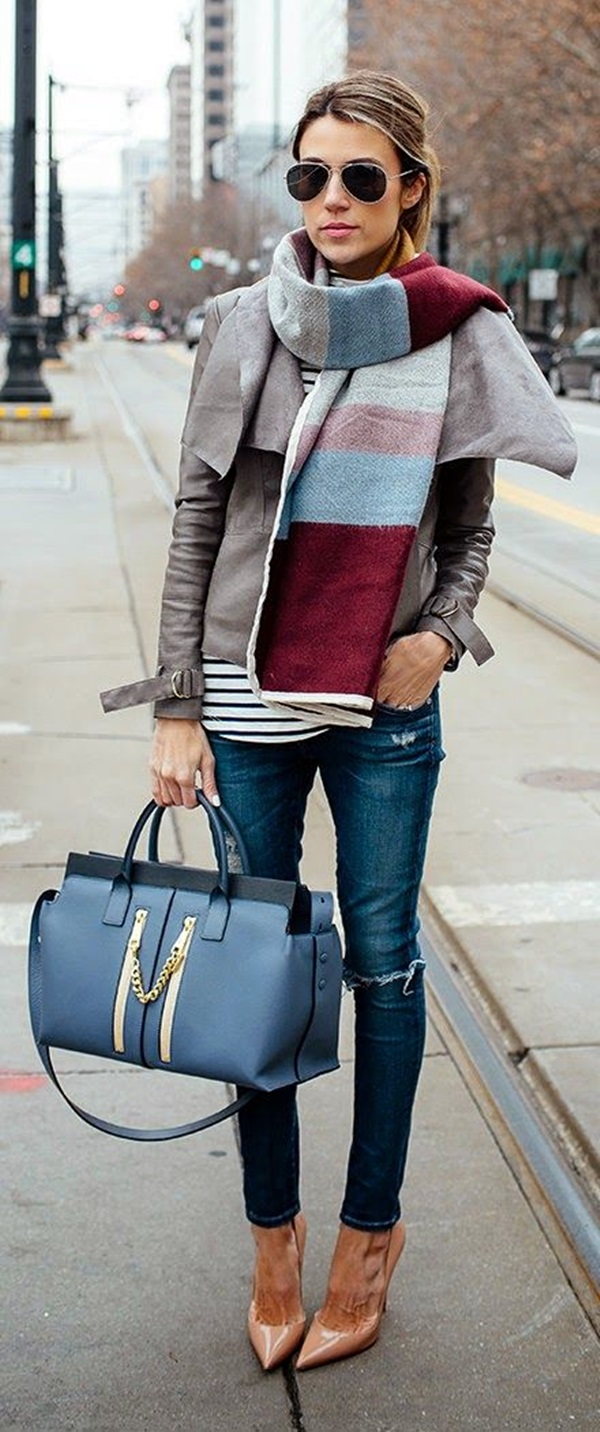 Scarf Outfit Ideas to try this Winter (29)