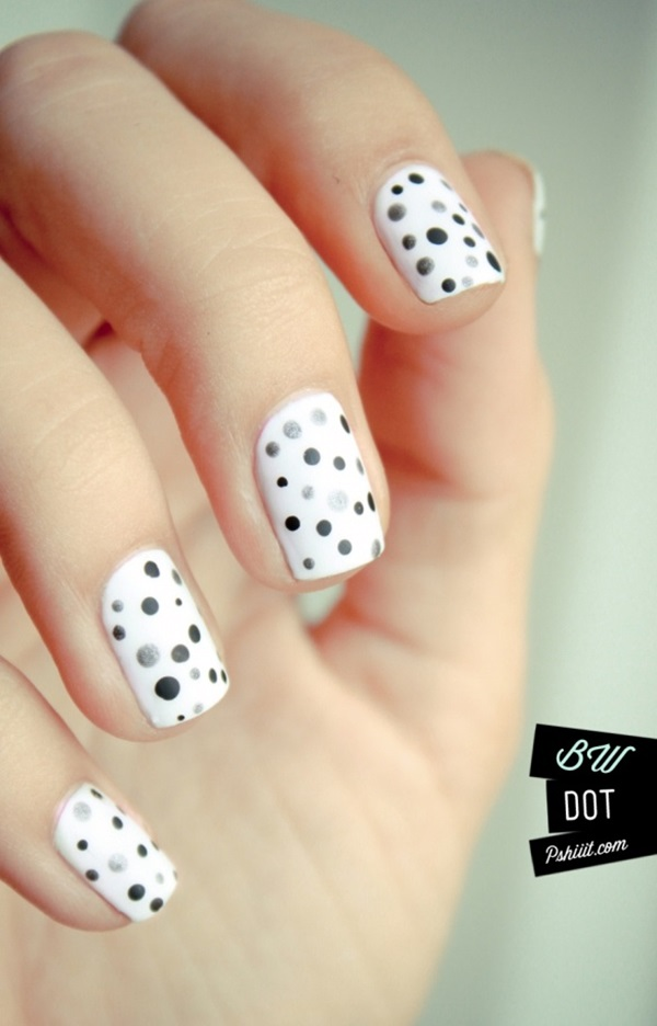 White Nails art Designs (1)