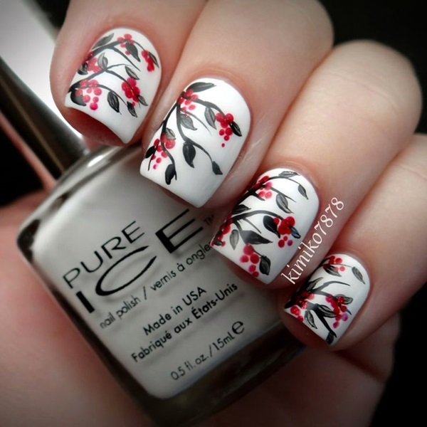 White Nails art Designs (18)