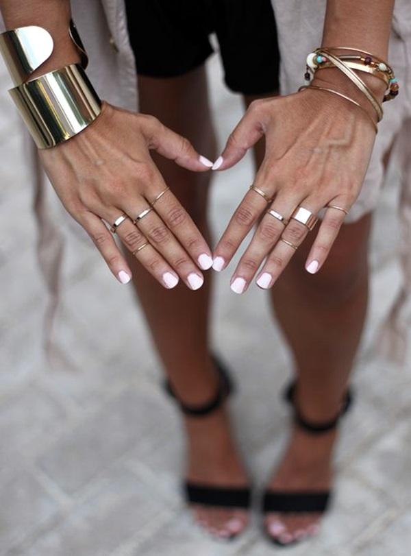 White Nails art Designs (21)