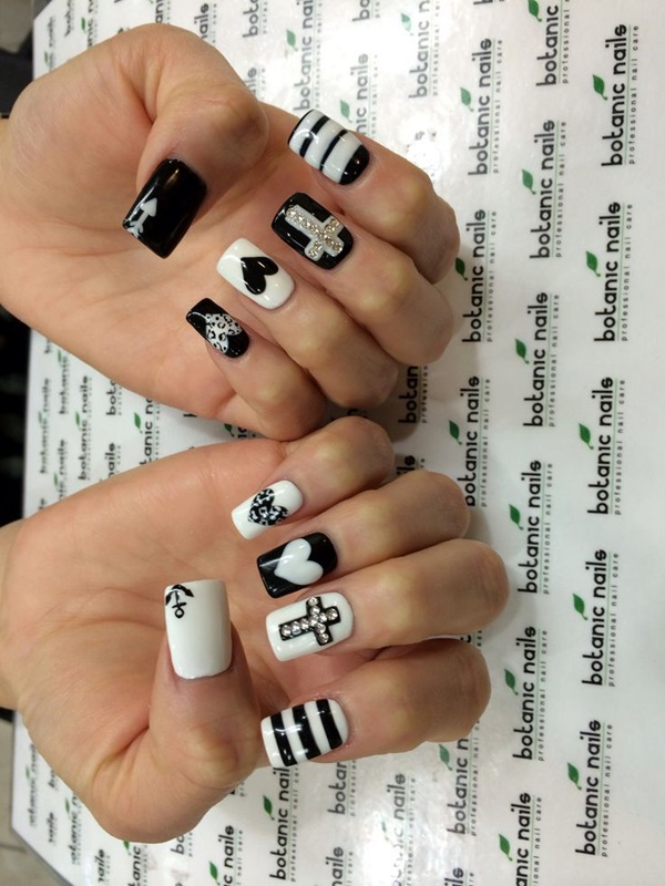 White Nails art Designs (28)