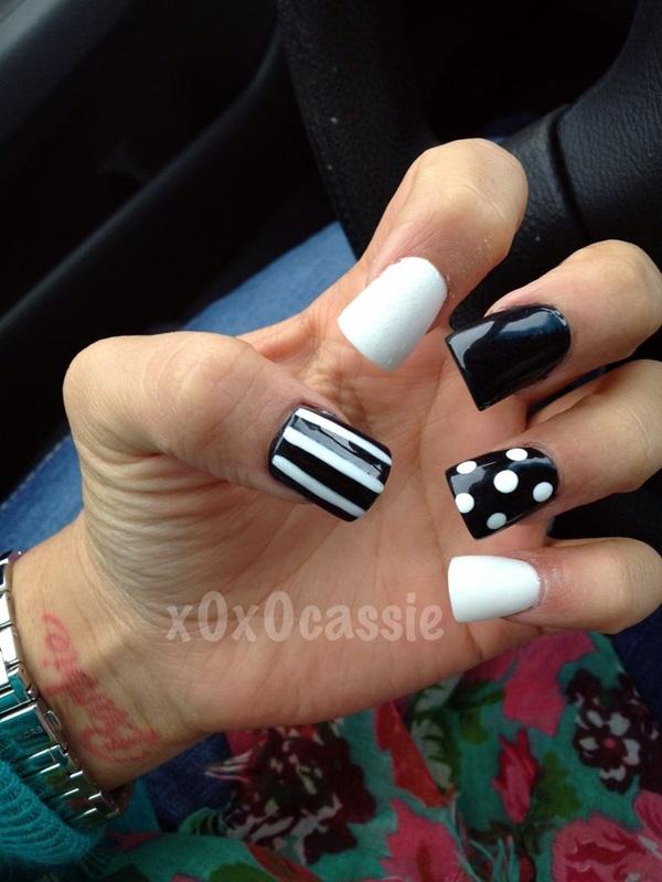 White Nails art Designs (31)
