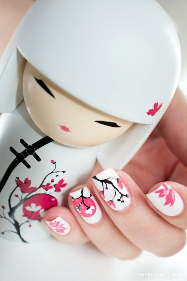 White Nails art Designs (32)