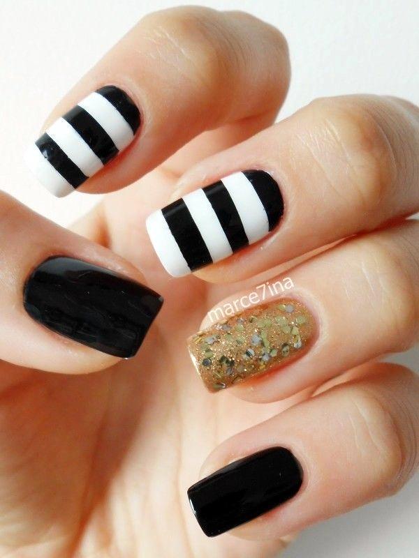 White Nails art Designs (35)