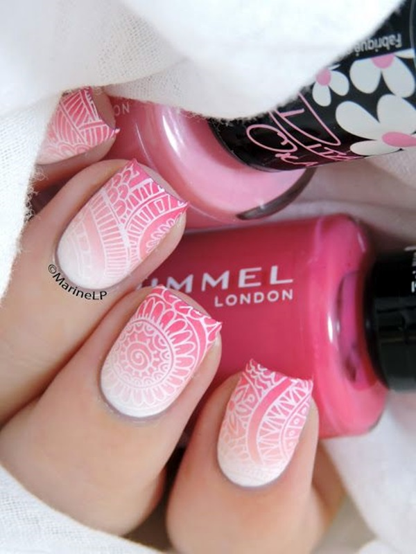 White Nails art Designs (4)