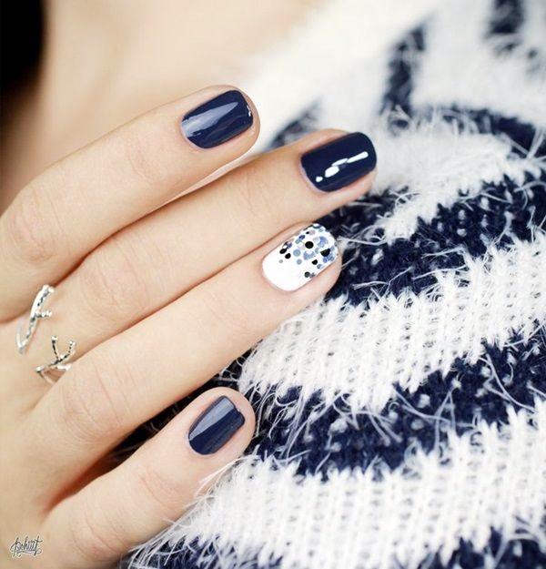 White Nails art Designs (43)