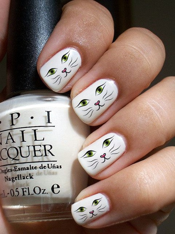 White Nails art Designs (7)