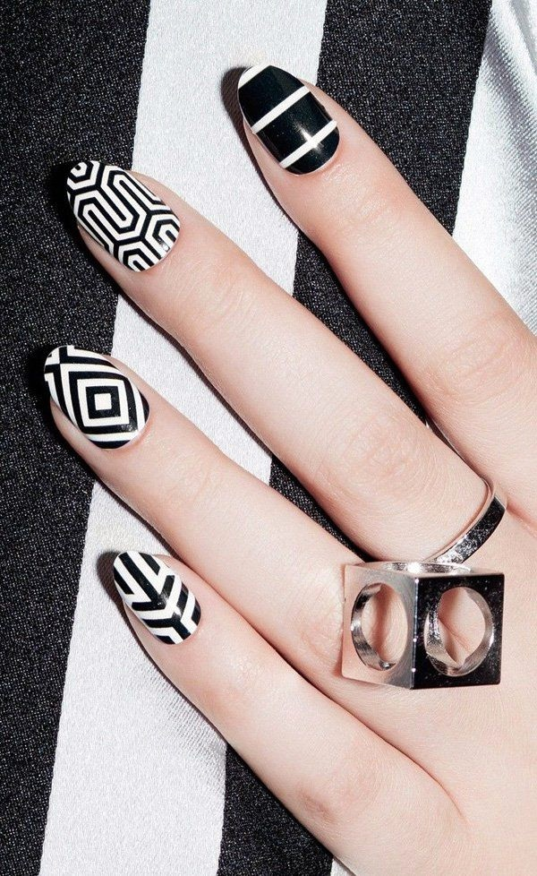 White Nails art Designs (8)