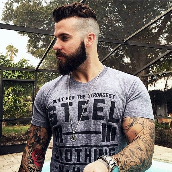 Cute Short and Full Beard Styles for Men (8)