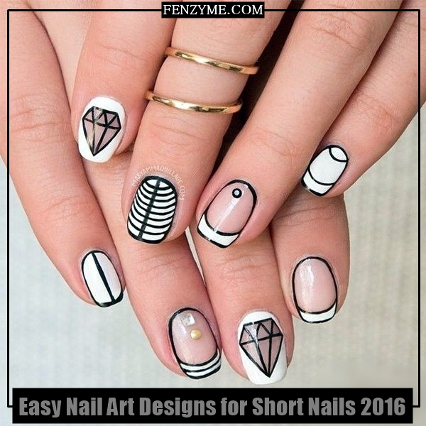 Easy Nail Art Designs for Short Nails 2016 (11)