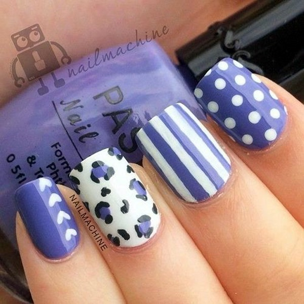 Easy To Do For Short Nails Nail Designs: Latest 45 Easy Nail Art Designs For Short Nails 2016