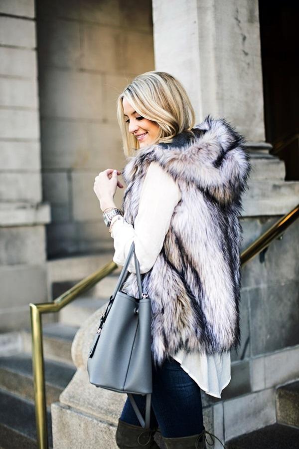 Fur Vest Outfits Ideas (10)
