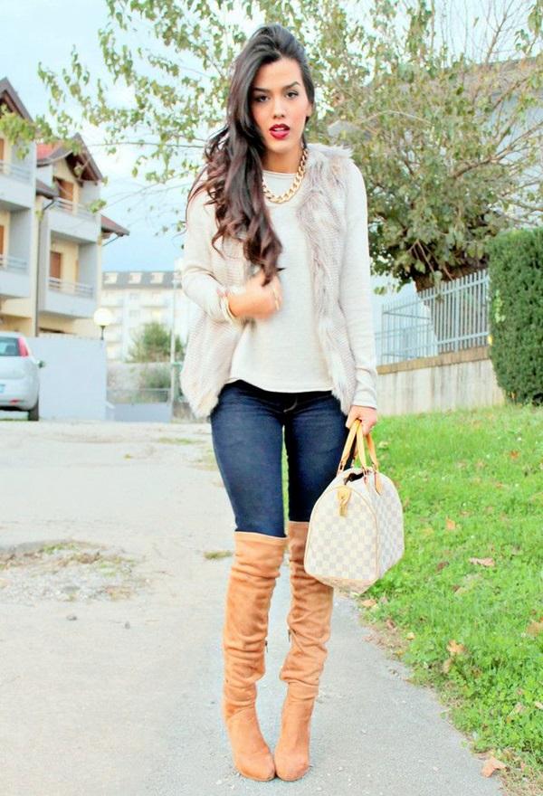 Fur Vest Outfits Ideas (11)