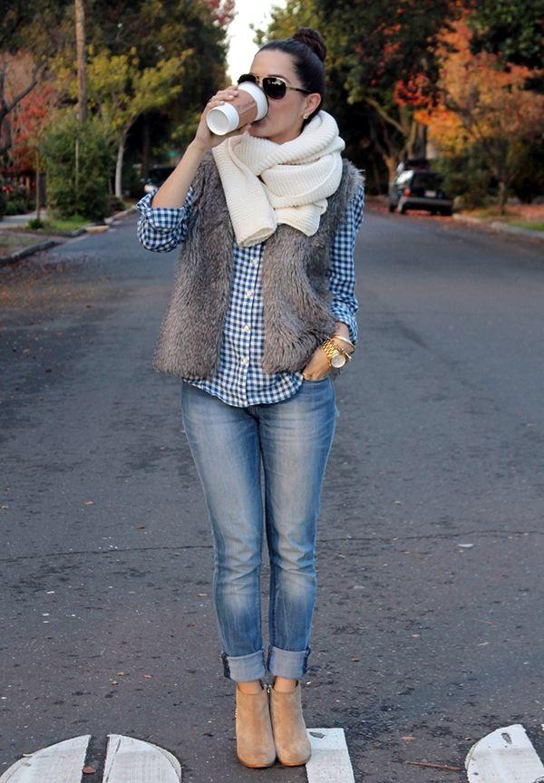 Fur Vest Outfits Ideas (12)