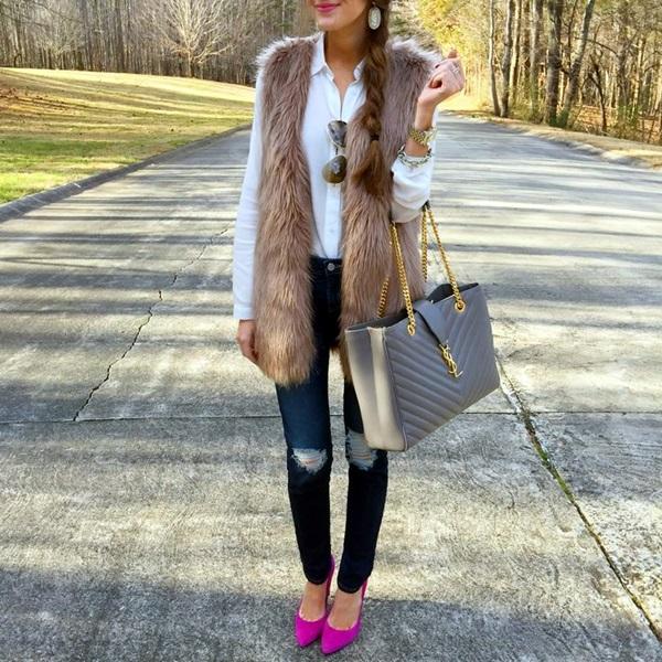 Fur Vest Outfits Ideas (15)