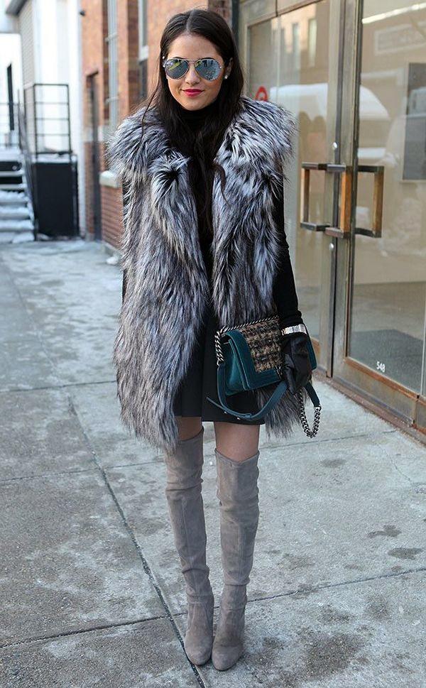 Fur Vest Outfits Ideas (16)