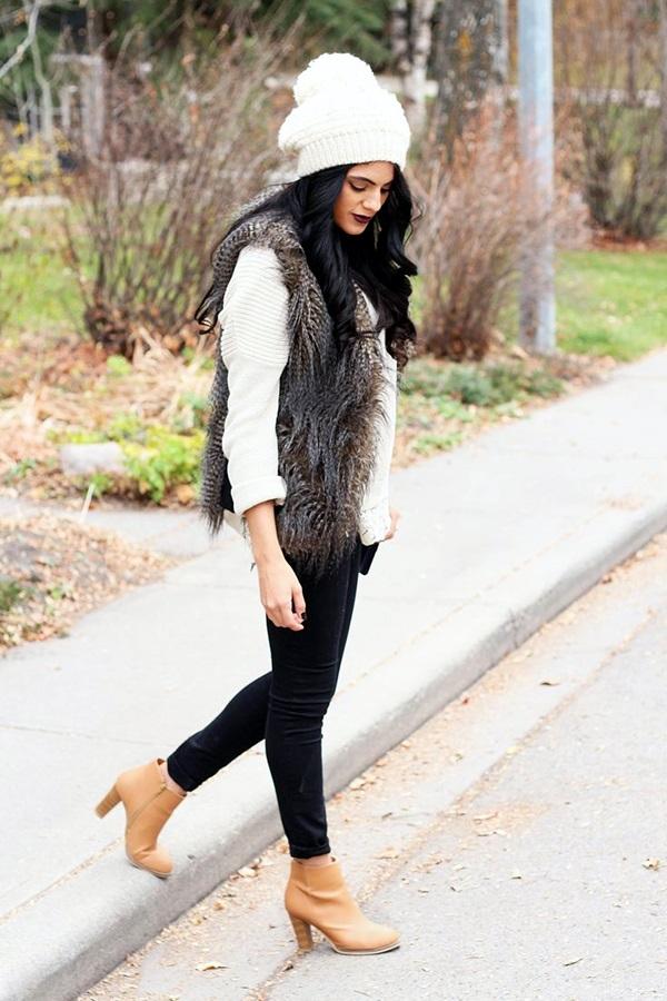 Fur Vest Outfits Ideas (17)